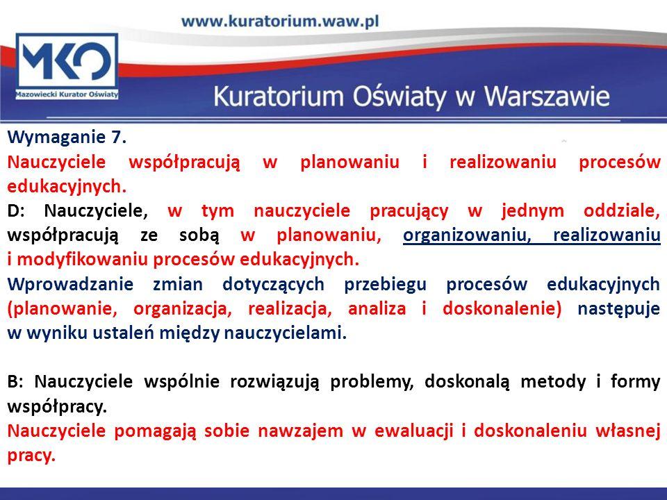 Delegatura w Płocku Wymaganie 7.