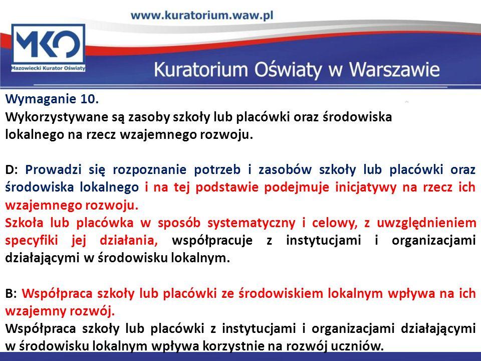 Delegatura w Płocku Wymaganie 10.