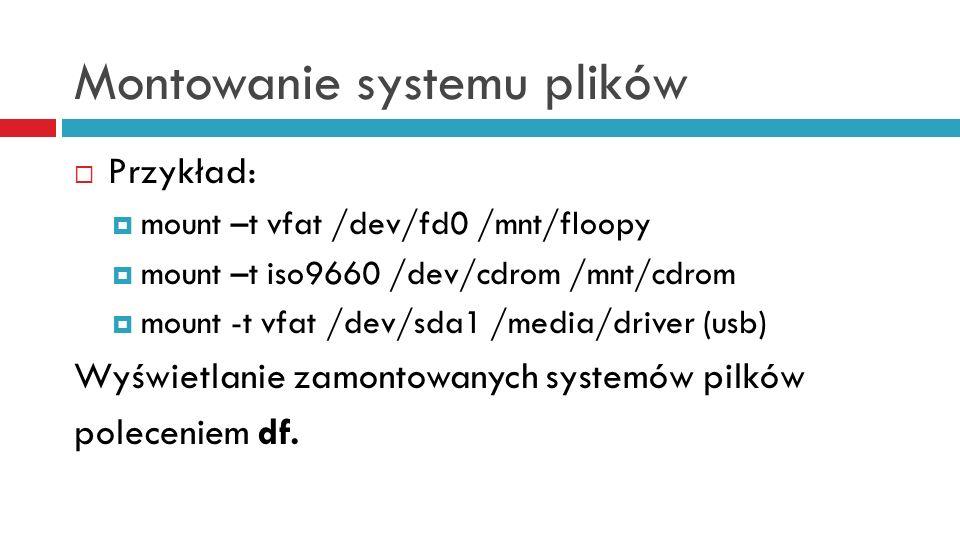 Montowanie systemu plików