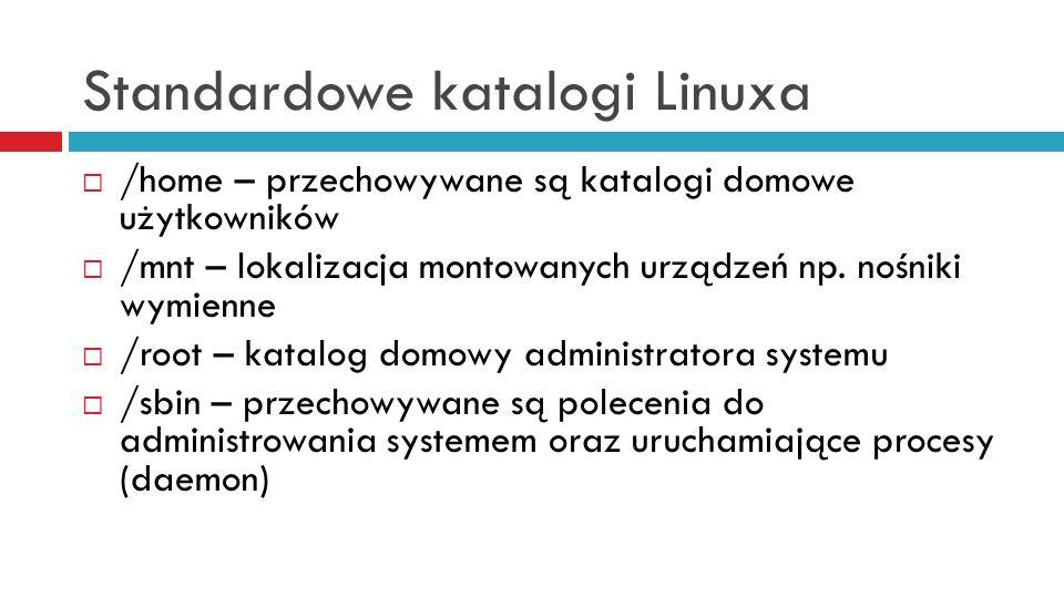 Standardowe katalogi Linuxa