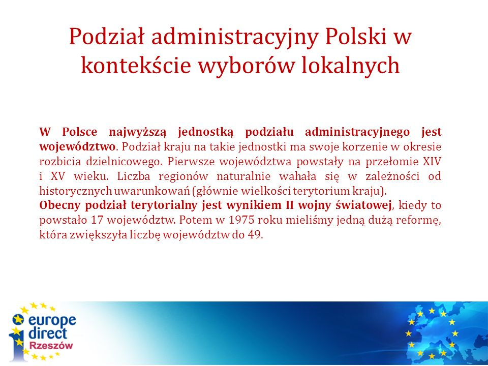 Podział administracyjny Polski w kontekście wyborów lokalnych