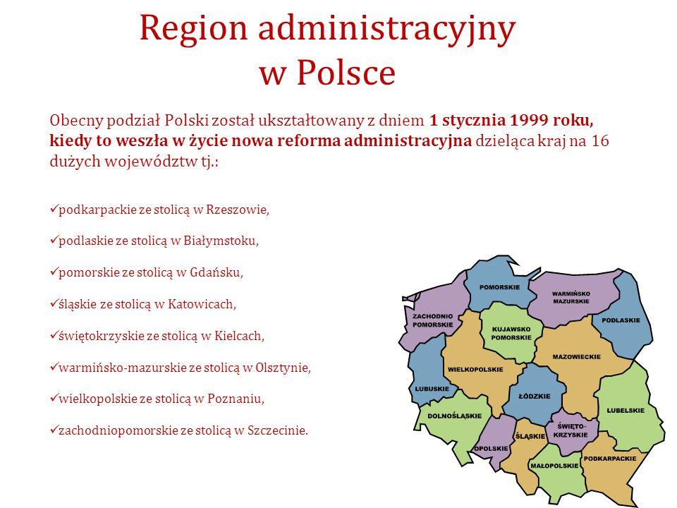 Region administracyjny w Polsce