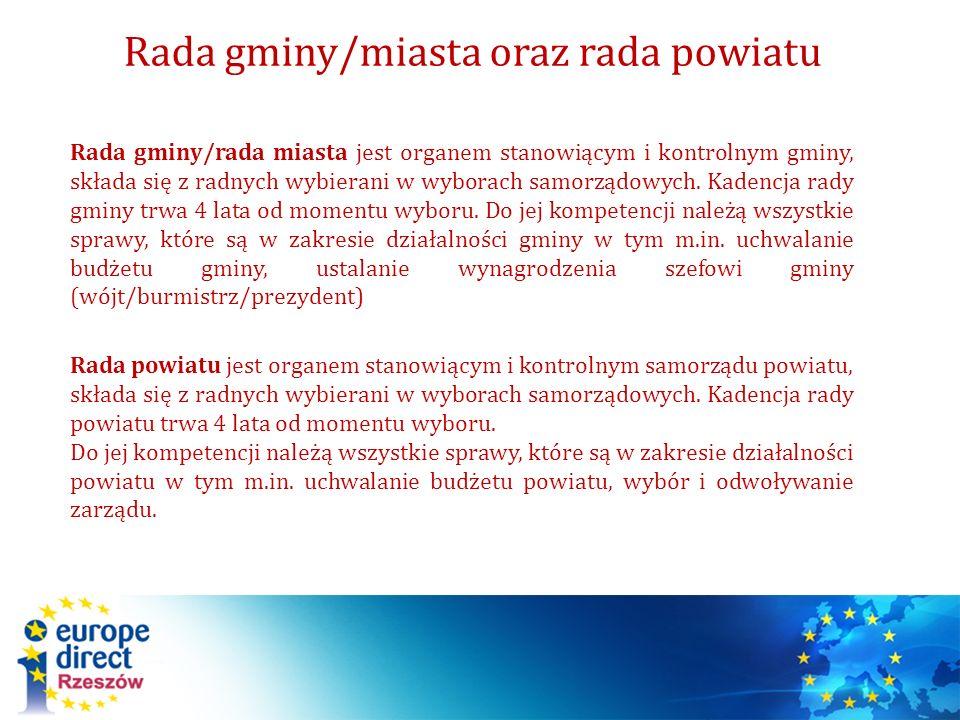 Rada gminy/miasta oraz rada powiatu