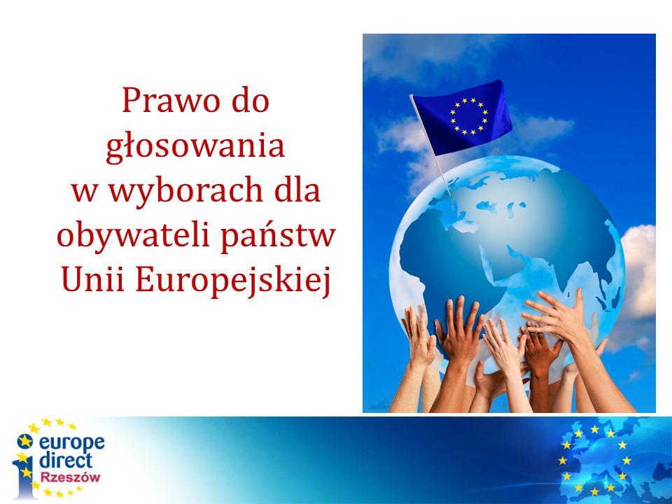 Prawo do głosowania w wyborach dla obywateli państw Unii Europejskiej