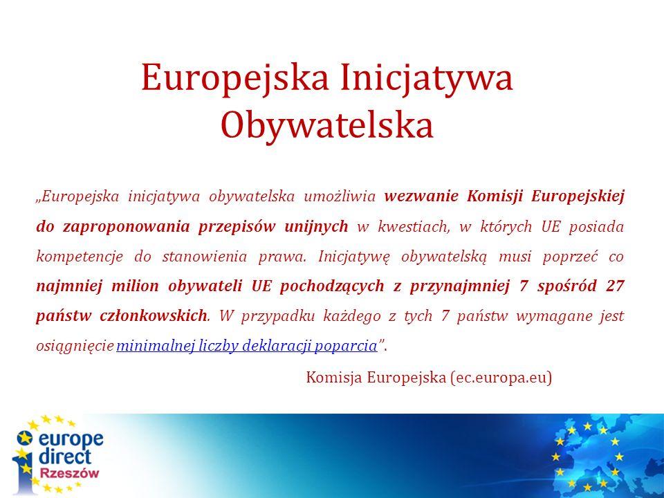 Europejska Inicjatywa Obywatelska