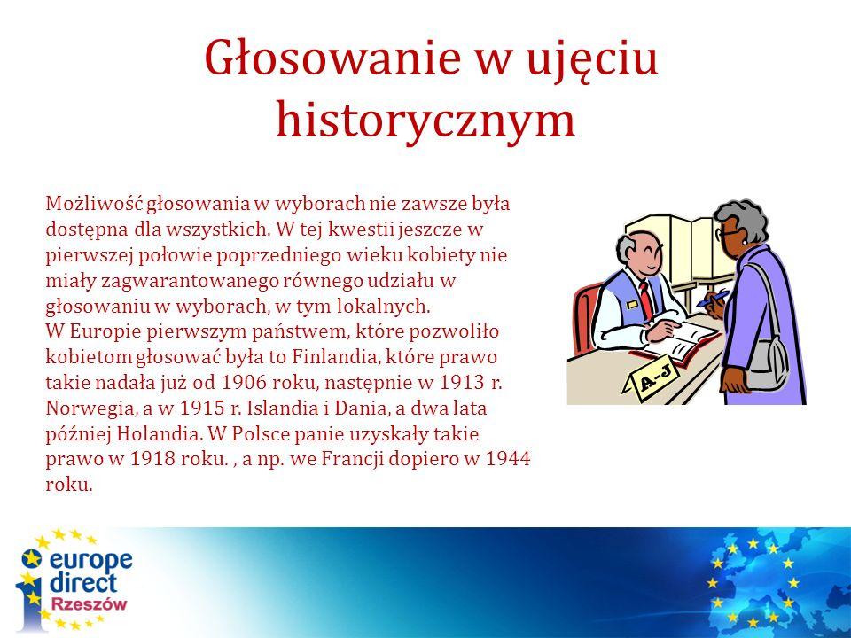 Głosowanie w ujęciu historycznym