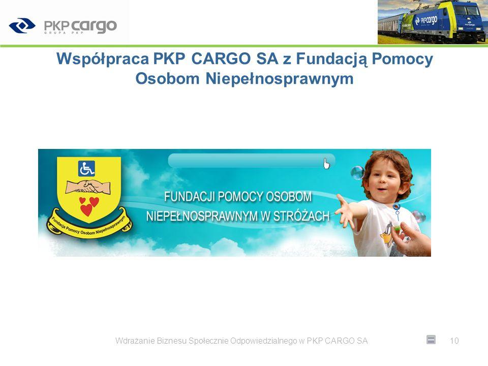 Współpraca PKP CARGO SA z Fundacją Pomocy Osobom Niepełnosprawnym