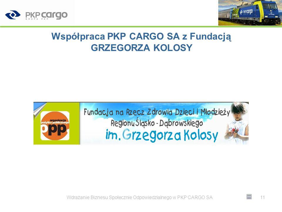 Współpraca PKP CARGO SA z Fundacją GRZEGORZA KOLOSY