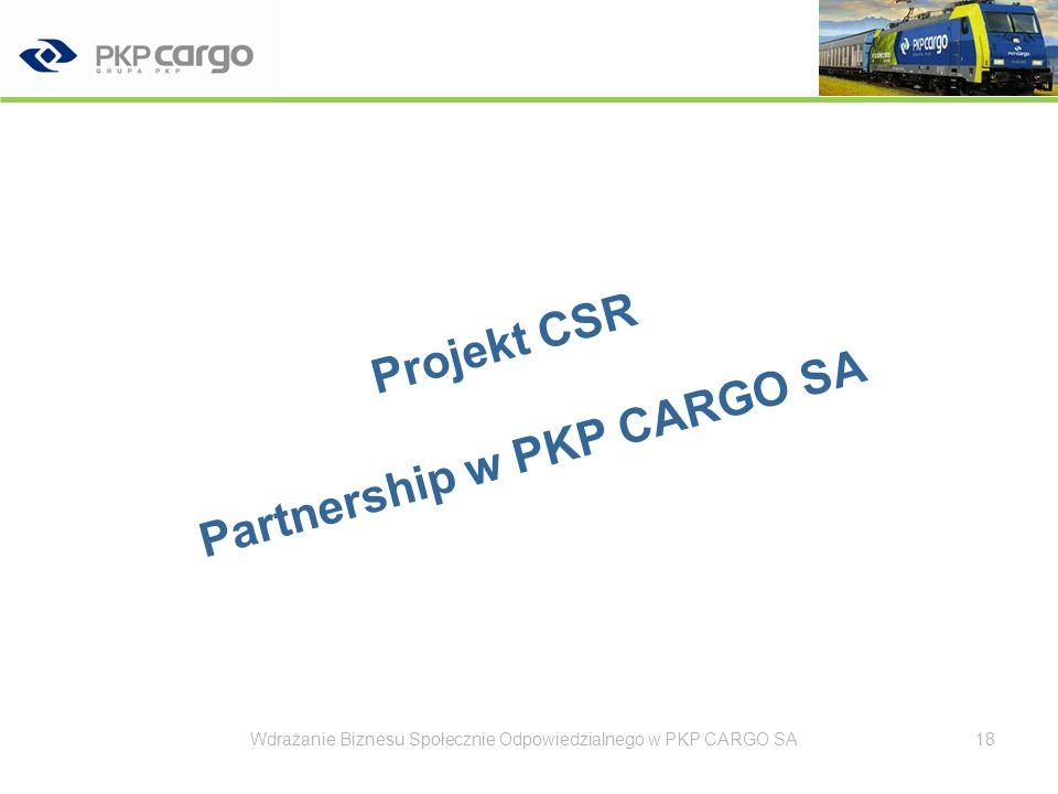Projekt CSR Partnership w PKP CARGO SA