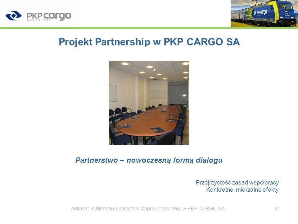 Projekt Partnership w PKP CARGO SA
