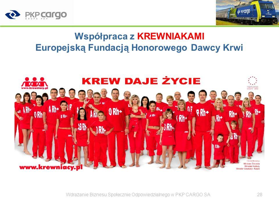 Współpraca z KREWNIAKAMI Europejską Fundacją Honorowego Dawcy Krwi