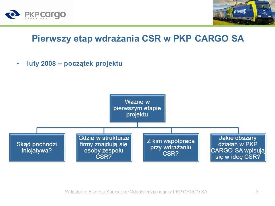 Pierwszy etap wdrażania CSR w PKP CARGO SA