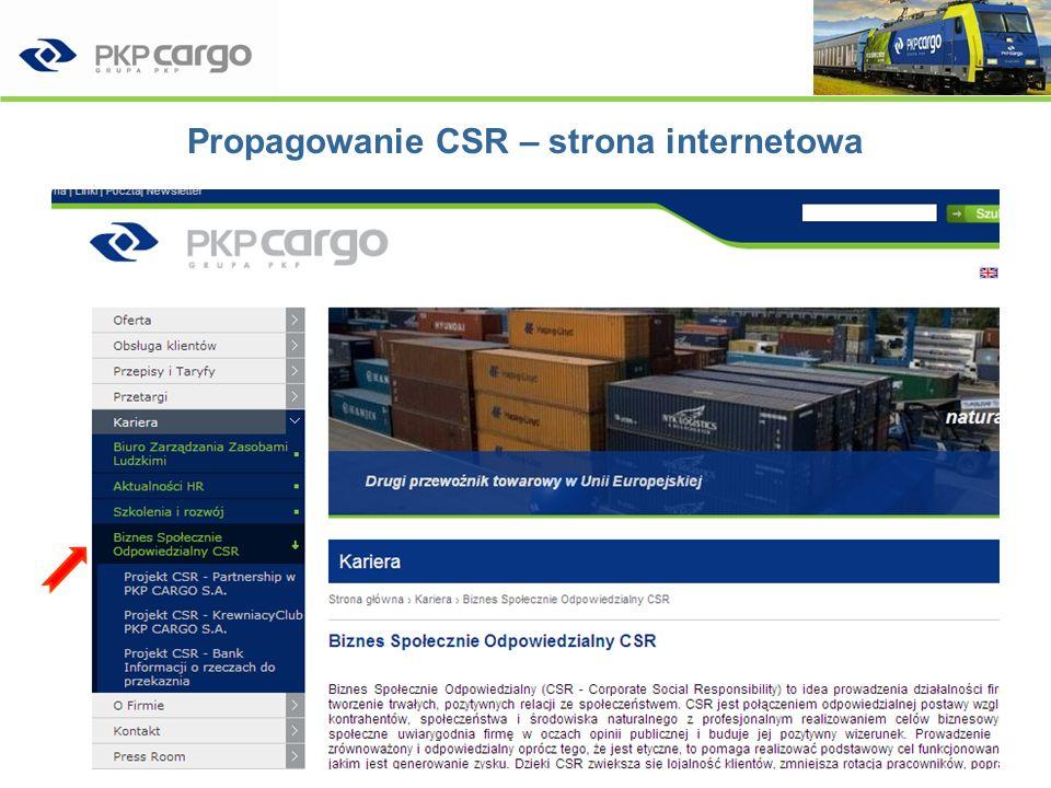 Propagowanie CSR – strona internetowa