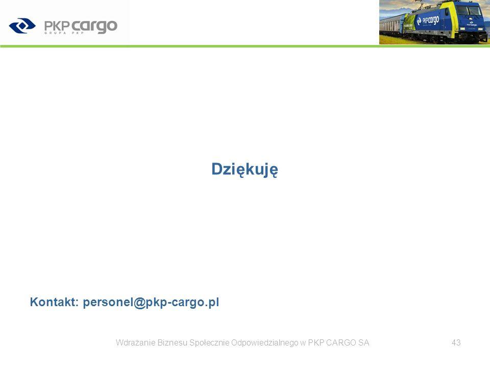Dziękuję Kontakt: personel@pkp-cargo.pl