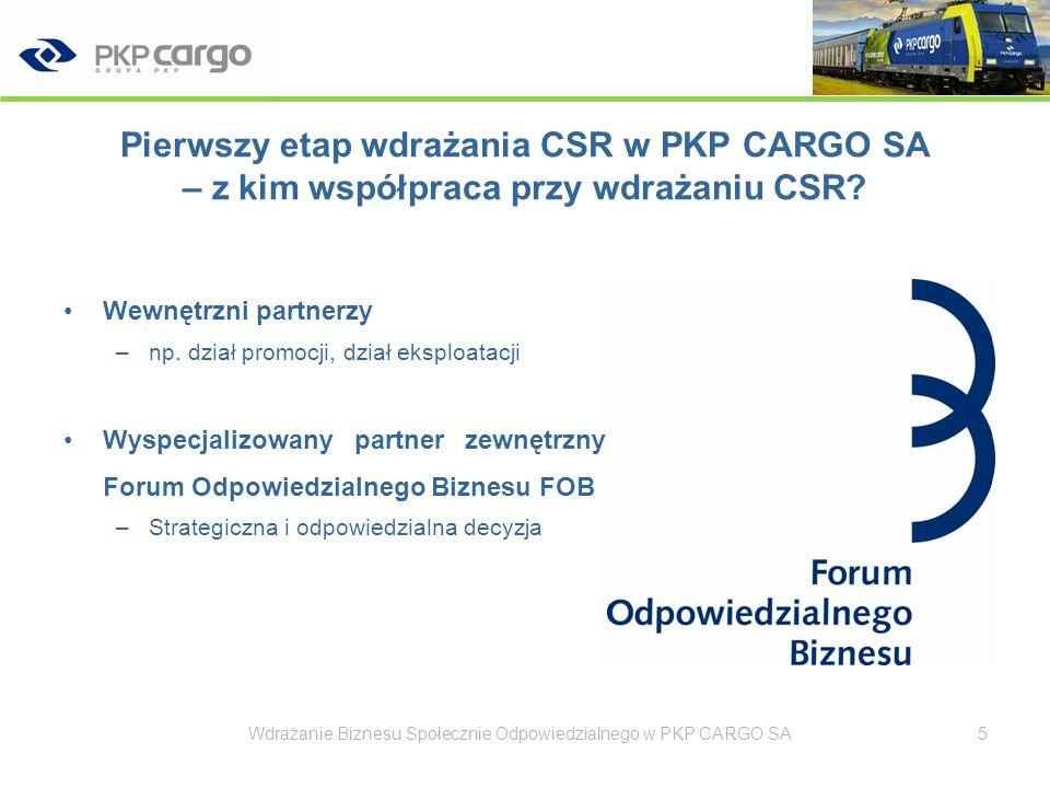 Pierwszy etap wdrażania CSR w PKP CARGO SA – z kim współpraca przy wdrażaniu CSR