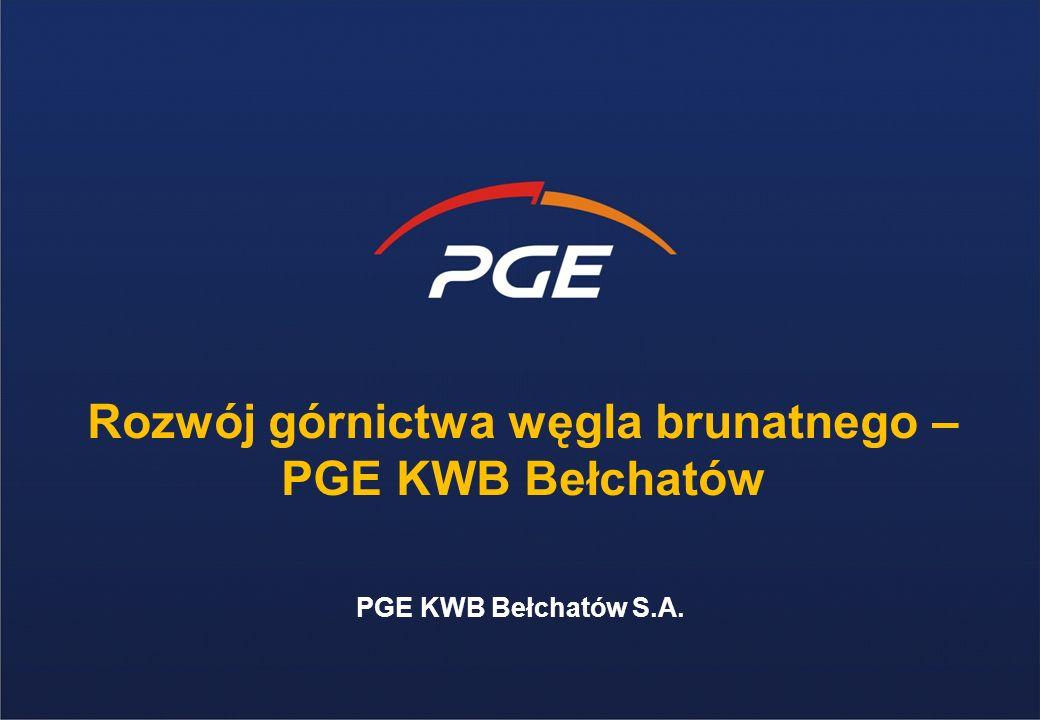 Rozwój górnictwa węgla brunatnego – PGE KWB Bełchatów