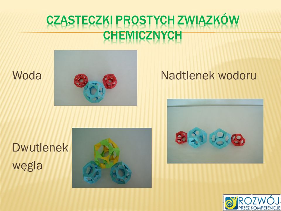 Cząsteczki prostych związków chemicznych