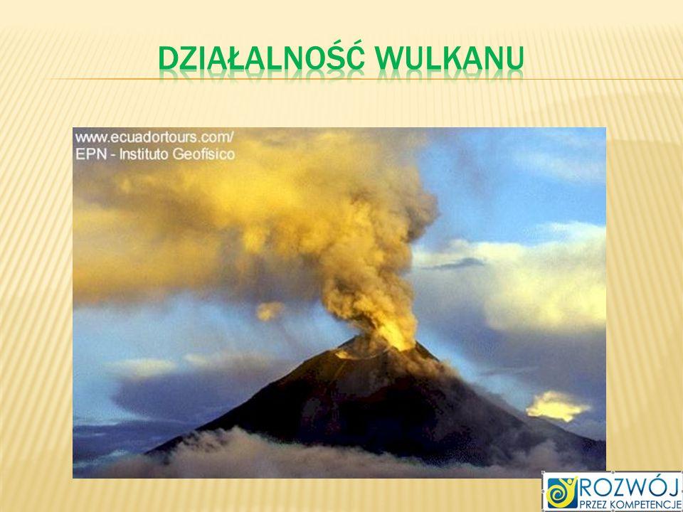 Działalność wulkanu