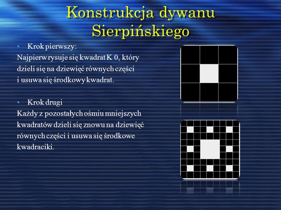 Konstrukcja dywanu Sierpińskiego