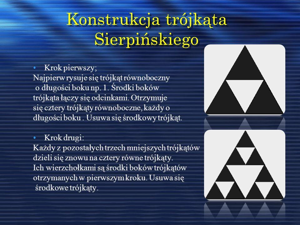 Konstrukcja trójkąta Sierpińskiego