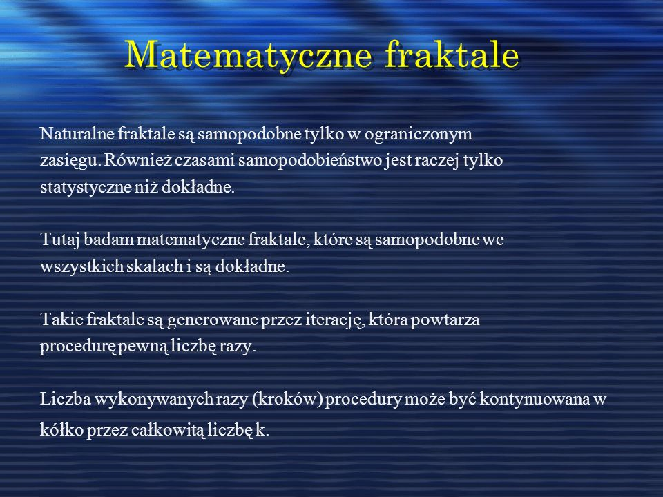 Matematyczne fraktale