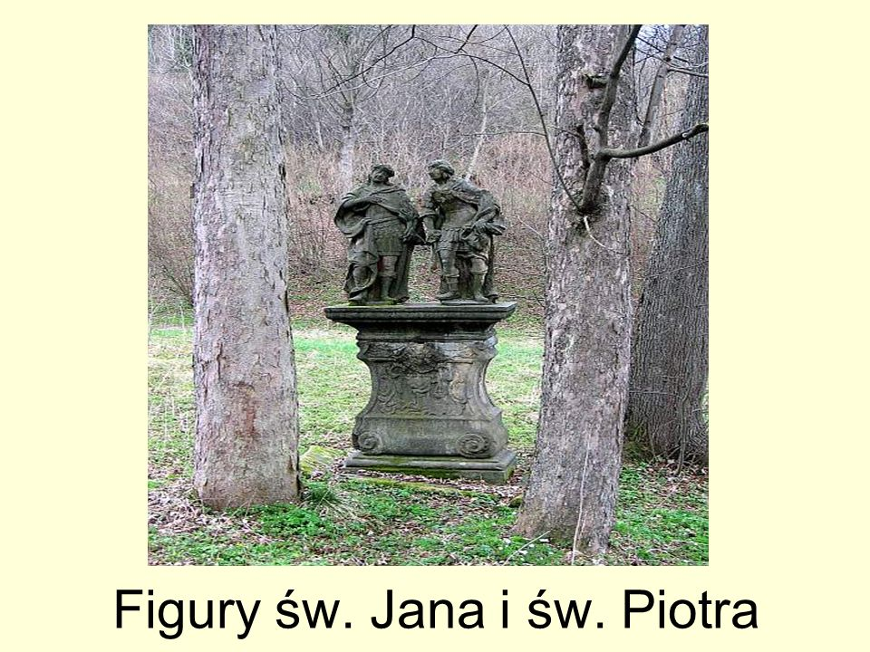 Figury św. Jana i św. Piotra