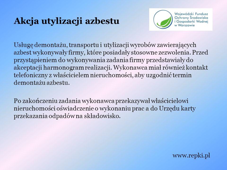 Akcja utylizacji azbestu