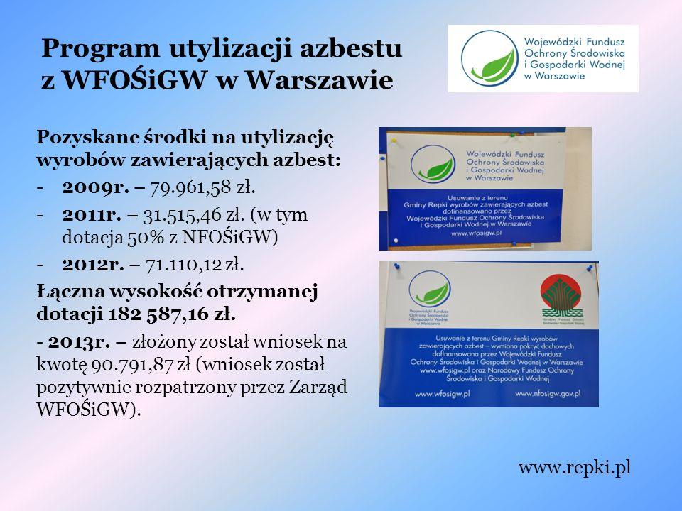 Program utylizacji azbestu z WFOŚiGW w Warszawie