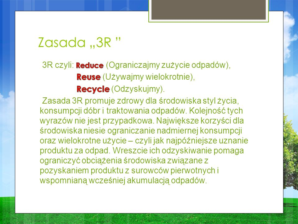 """Zasada """"3R"""
