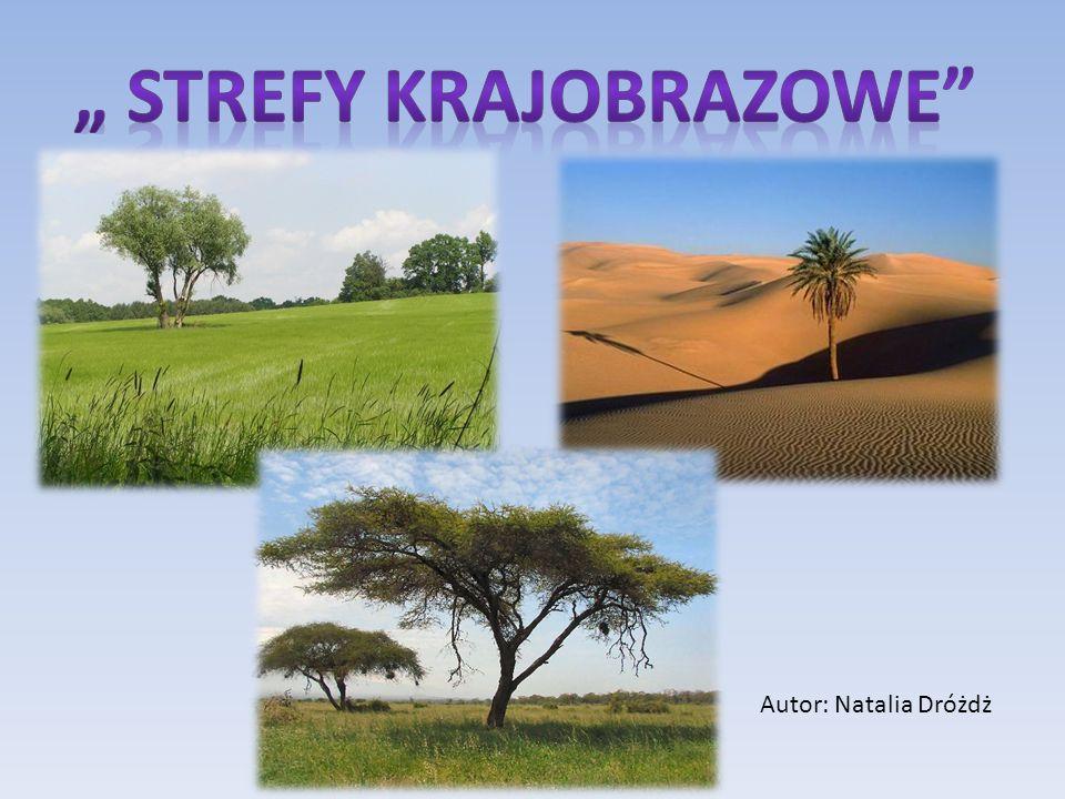 """ STREFY KRAJOBRAZOWE"
