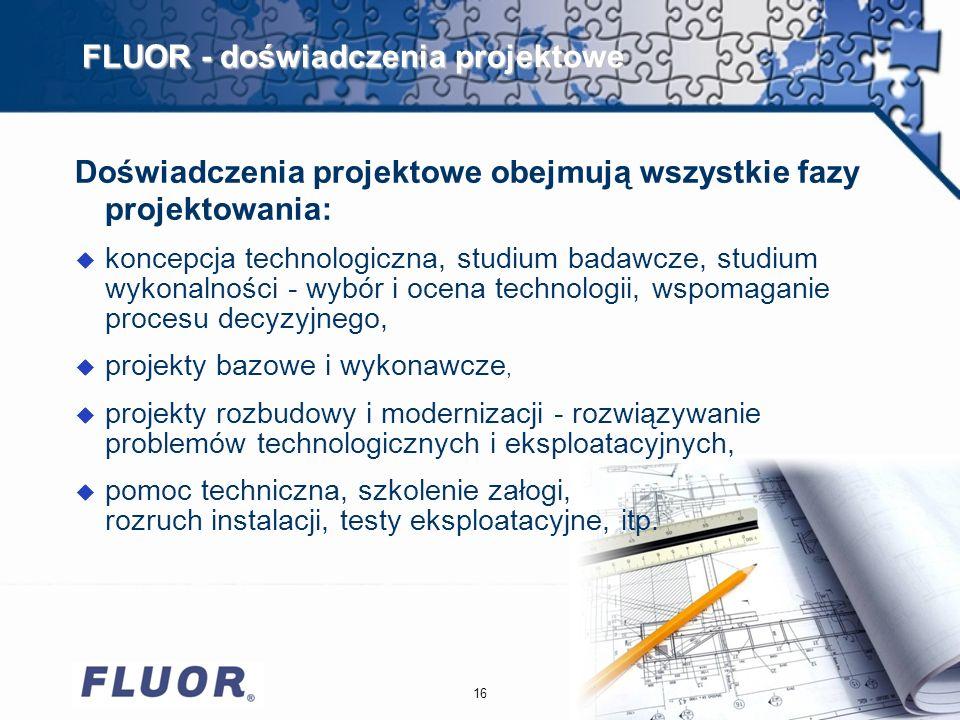 FLUOR - doświadczenia projektowe