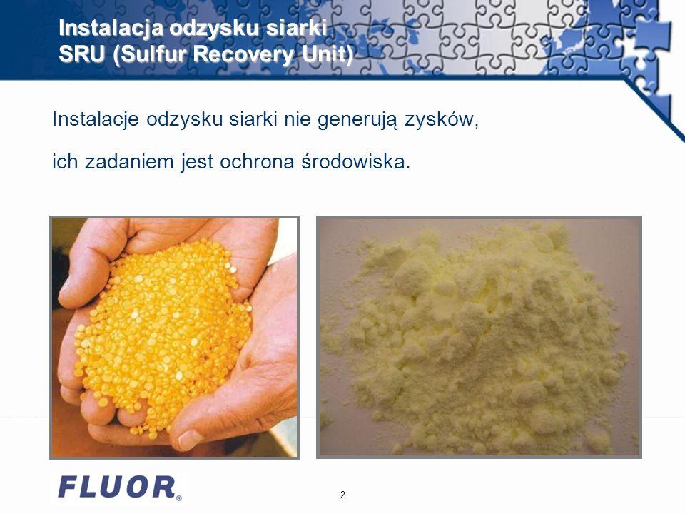 Instalacja odzysku siarki SRU (Sulfur Recovery Unit)