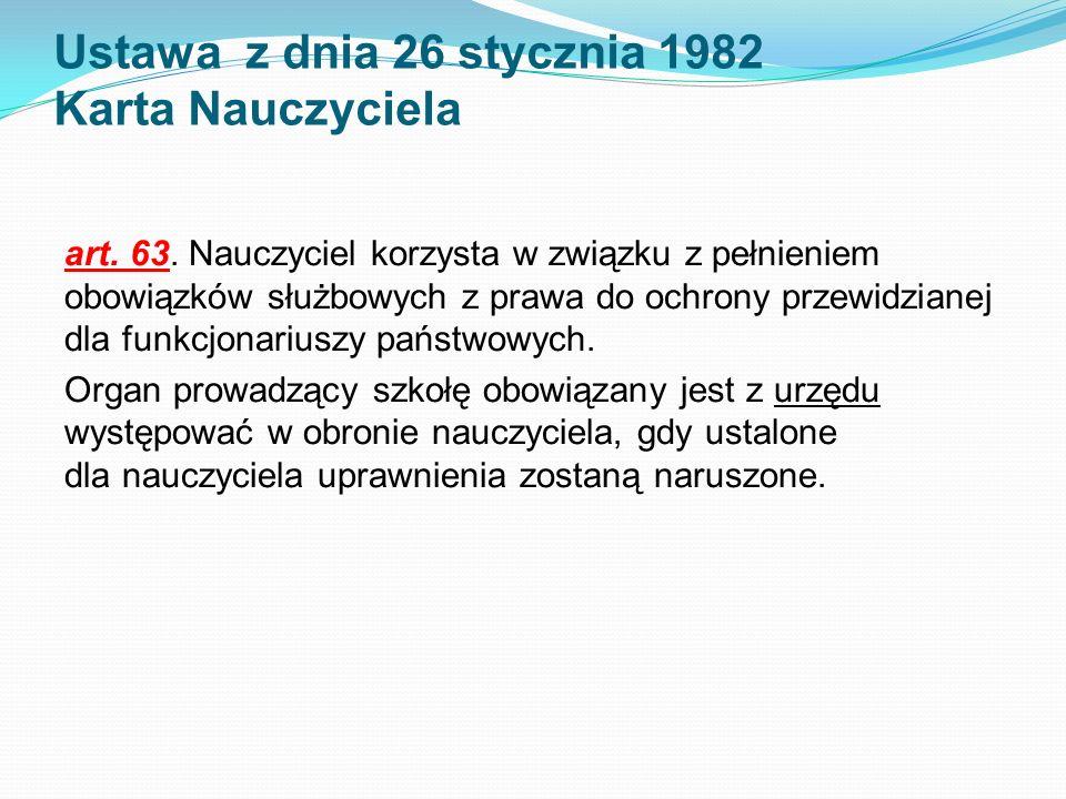 Ustawa z dnia 26 stycznia 1982 Karta Nauczyciela