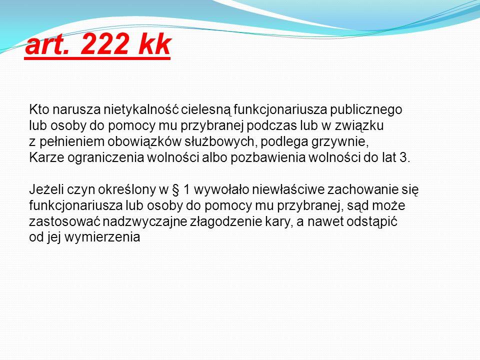 art. 222 kk