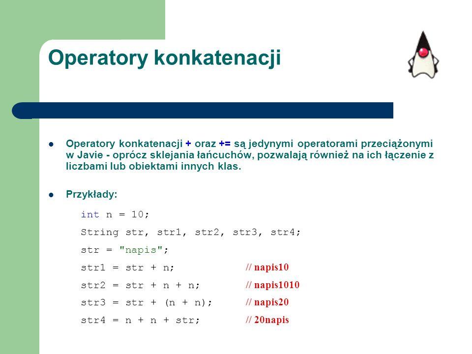 Operatory konkatenacji