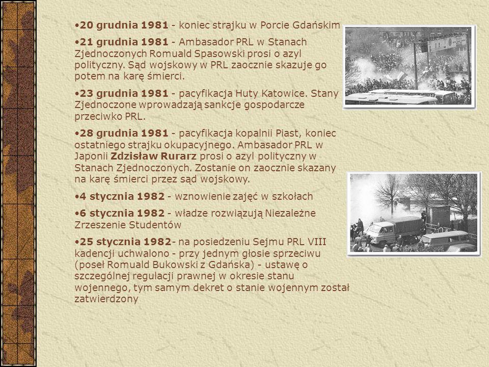 20 grudnia 1981 - koniec strajku w Porcie Gdańskim