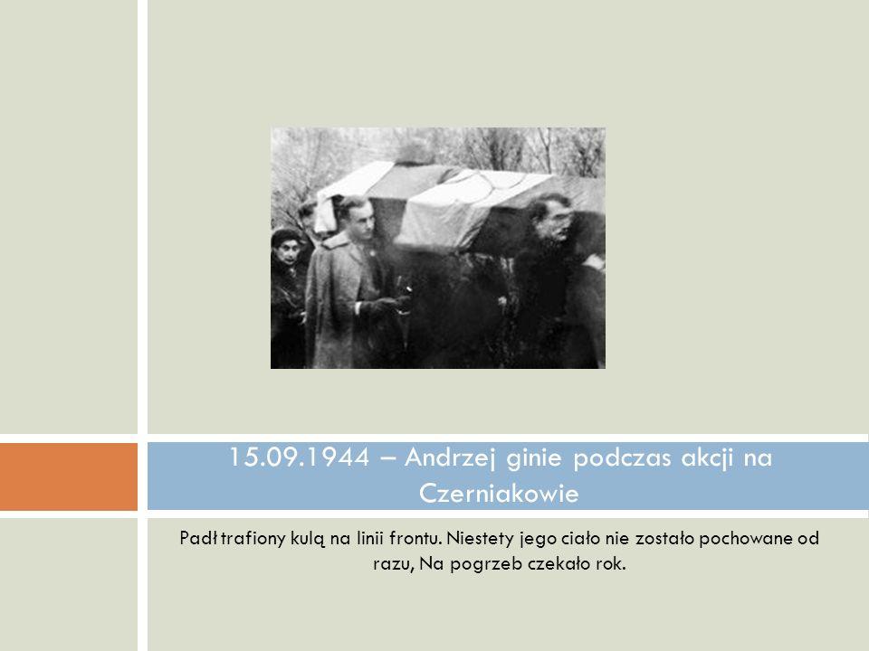 15.09.1944 – Andrzej ginie podczas akcji na Czerniakowie