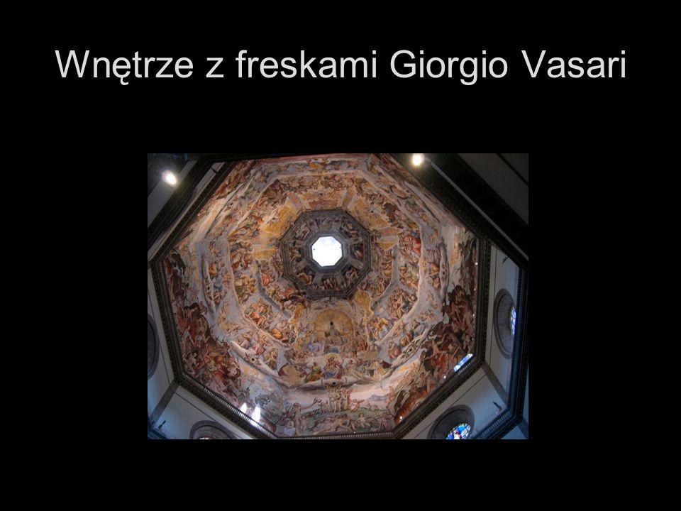 Wnętrze z freskami Giorgio Vasari