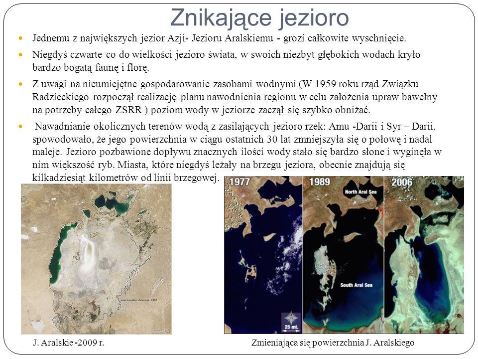Zmieniająca się powierzchnia J. Aralskiego