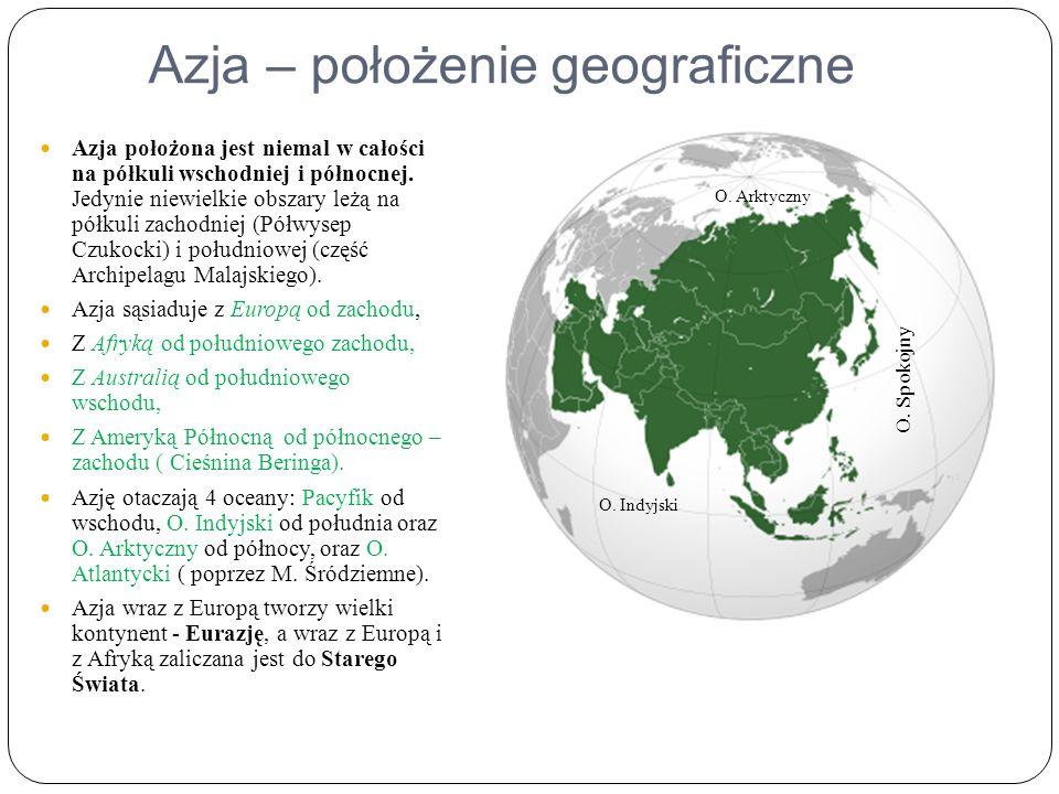 Azja – położenie geograficzne