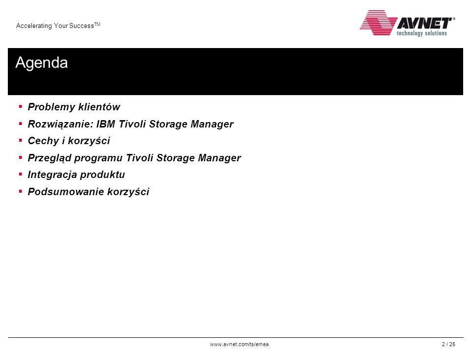 Agenda Problemy klientów Rozwiązanie: IBM Tivoli Storage Manager