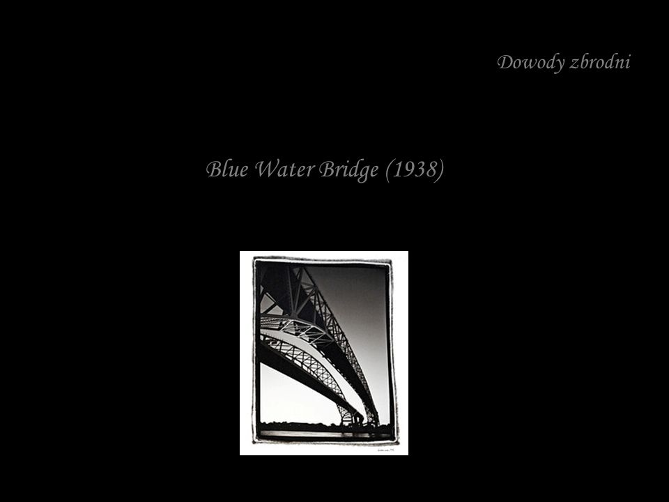 Dowody zbrodni Blue Water Bridge (1938)