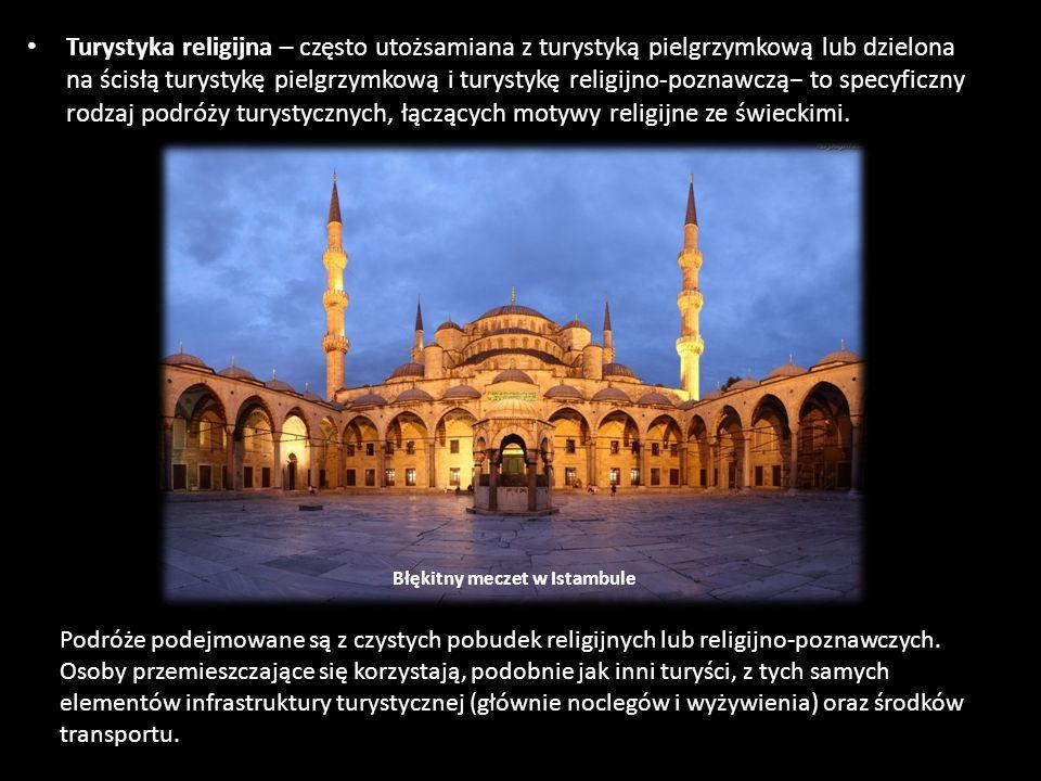 Turystyka religijna – często utożsamiana z turystyką pielgrzymkową lub dzielona na ścisłą turystykę pielgrzymkową i turystykę religijno-poznawczą− to specyficzny rodzaj podróży turystycznych, łączących motywy religijne ze świeckimi.