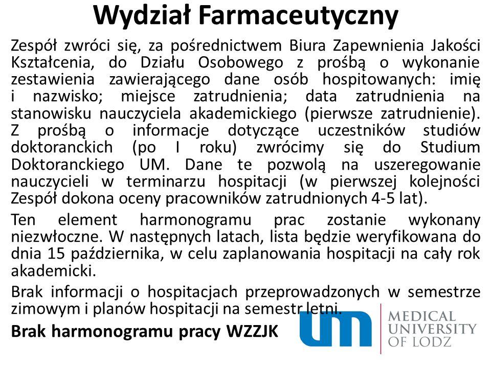 Wydział Farmaceutyczny