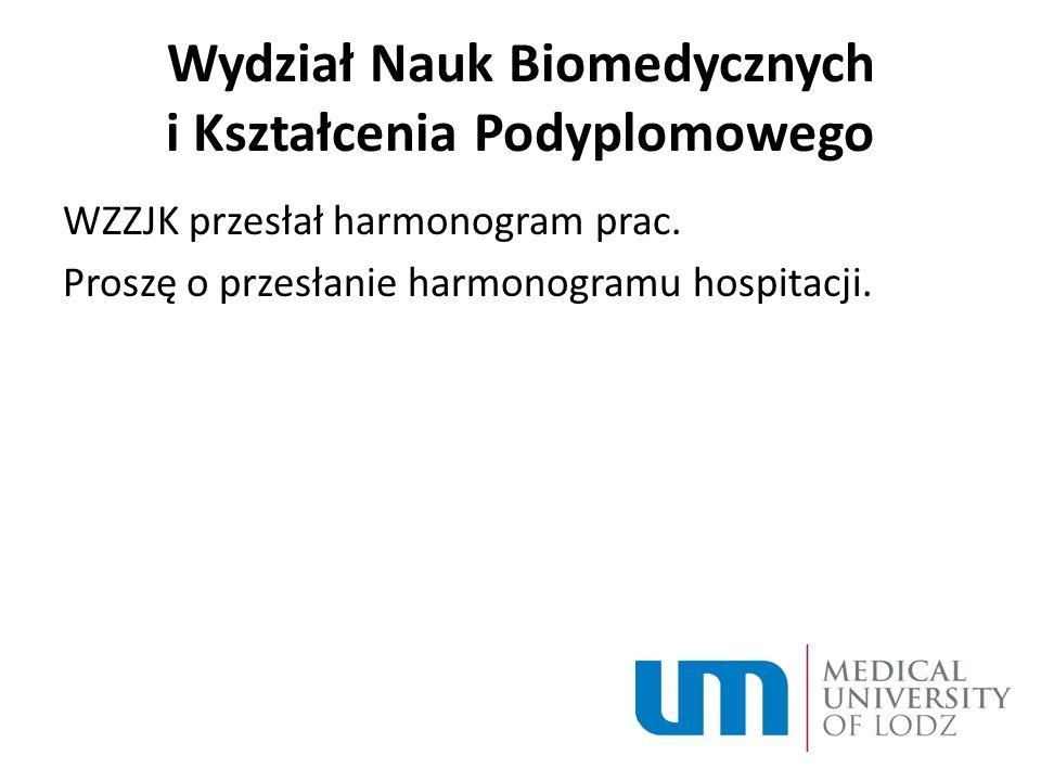 Wydział Nauk Biomedycznych i Kształcenia Podyplomowego