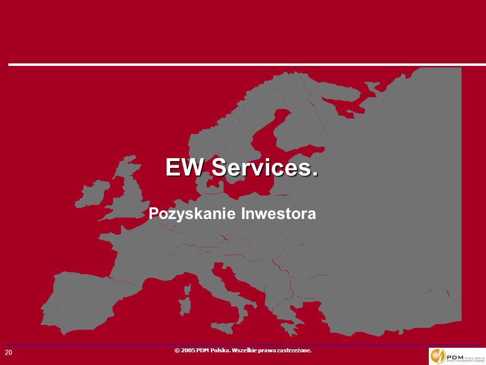 EW Services. Pozyskanie Inwestora