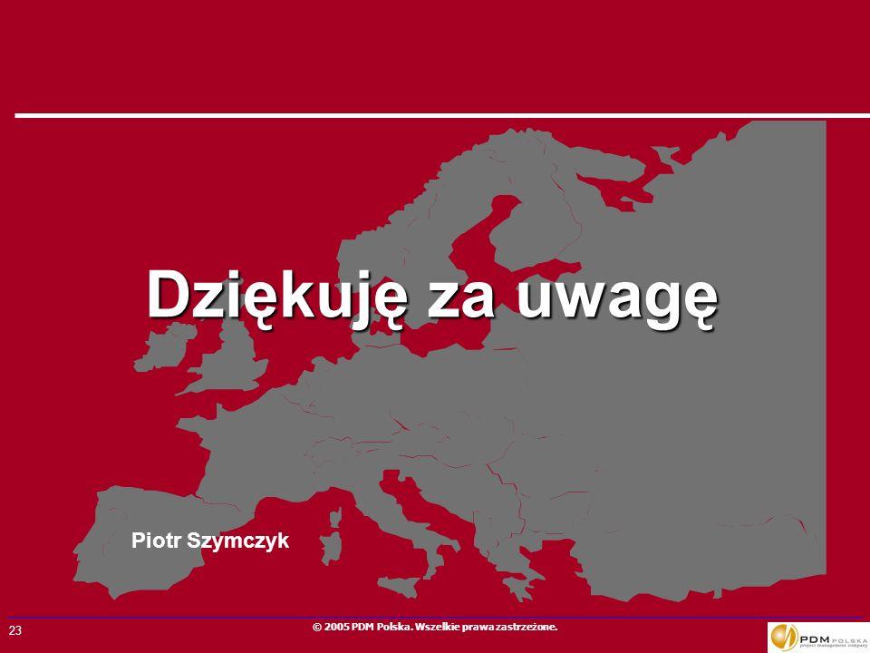 Dziękuję za uwagę Piotr Szymczyk
