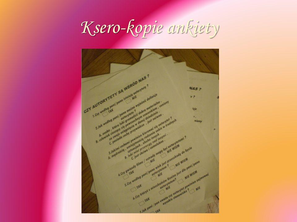 Ksero-kopie ankiety