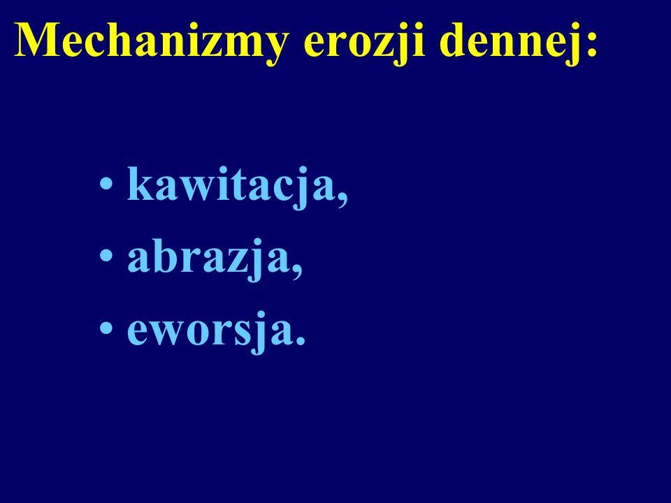 Mechanizmy erozji dennej: