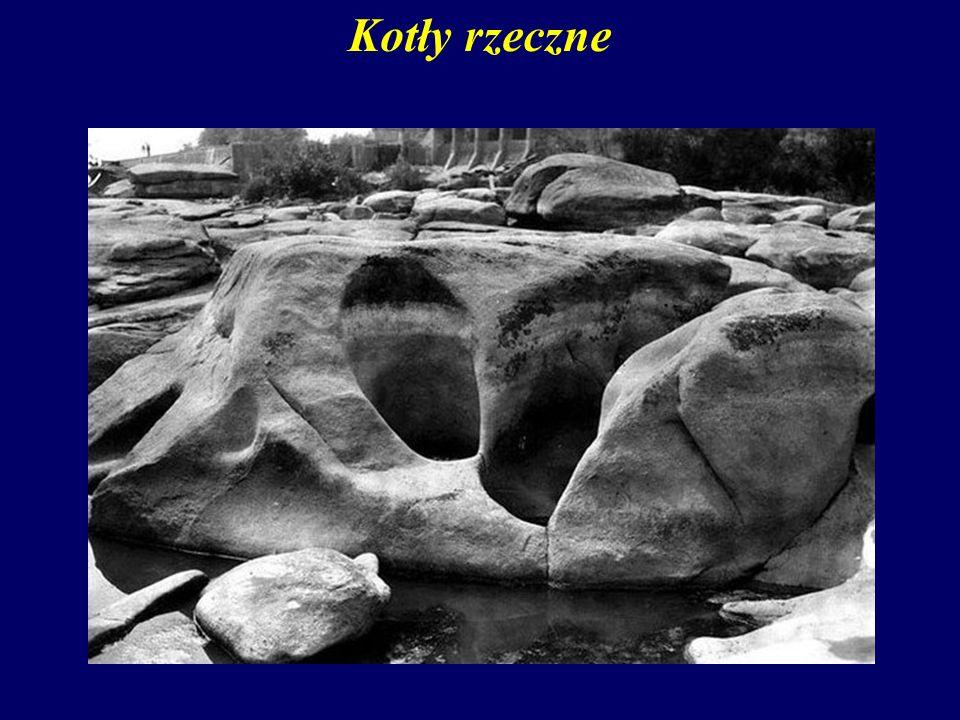 Kotły rzeczne W wyniku działania eworsji powstają – głębokie nieraz na wiele metrów – kotły rzeczne (eworsyjne).